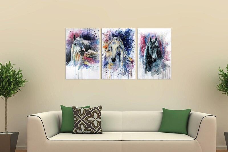 FRAME De Retrato Da Arte Da Parede Da Lona Cavalos Pintura Parede Pictures  Para Living Room Home Decor Papel De Parede Arte Da Parede Da Lona Em  Pintura ...