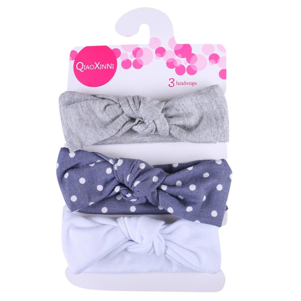 3Pcs Kids Floral Headband Girls Baby Elastic Bowknot Accessories Hairband Set Birthday Gift Headband New Arrival Dropshipping