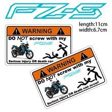 KODASKIN мотоцикл дешевые творческий Предупреждение стикеры Наклейка для Yamaha FZ-S