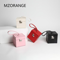 NEW Vintage Style 2018 Genuine Cowhide Leather Lady Handbags Small Flap Box Bag Unique Design Women