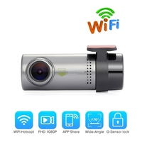 Mini Wireless DVRs Car WIFI DVR Camera Dash Cam 360 Degrees Rotation Video Recorder Digital Recorder Camcorder APP Monitor
