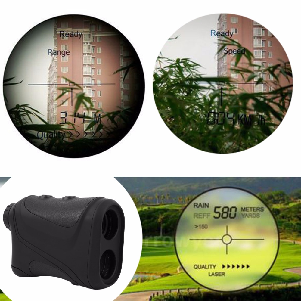 6x22mm Multifunction Laser Range Finder Telescope 600m Hunting Golf Distance HOT