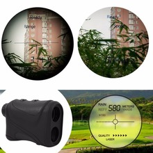 Best Buy 6x22mm Multifunction Laser Range Finder Telescope 600m Hunting Golf Distance HOT