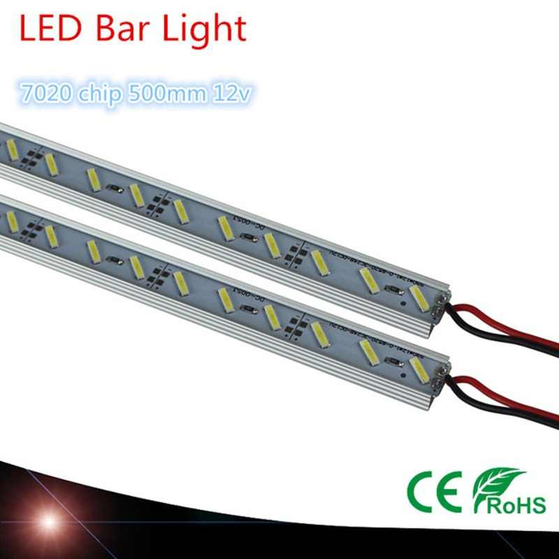 4PCS 6PCS 9PCS New 7020 Rigid LED Light Bar White Warm White 500mm Light Cabinet LED Strip Rigid 12 V DC Showcase LED Hard Strip