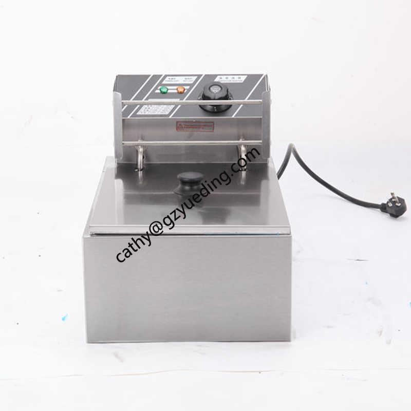 Tafel Teller Top Automatische Commerciële Rvs een tank een mand 6L Elektrische Friteuse voor Koop