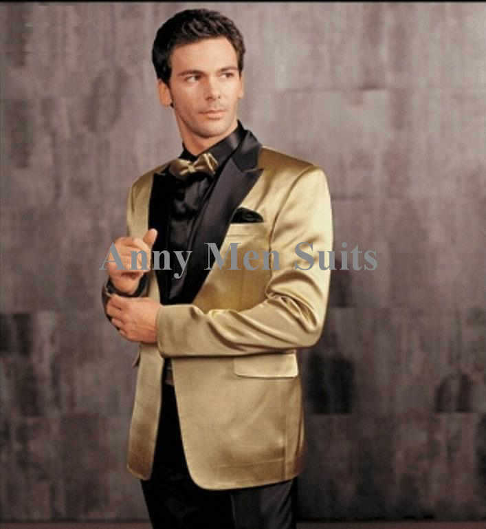 Popular Black Gold Tuxedo-Buy Cheap Black Gold Tuxedo lots from ...