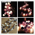 20 шт./компл. тайском стиле хлопок мяч струнные светильники, партия, патио, свадьба, новорожденный, рождество, валентина декор подарок-многоцветный можете выбрать