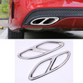 For Mercedes Benz C-Class Sedan W205 C180 C200 C300 2015 2016 Stainless Steel Exhause Air Filter Cover Trim Car Accessories HOT