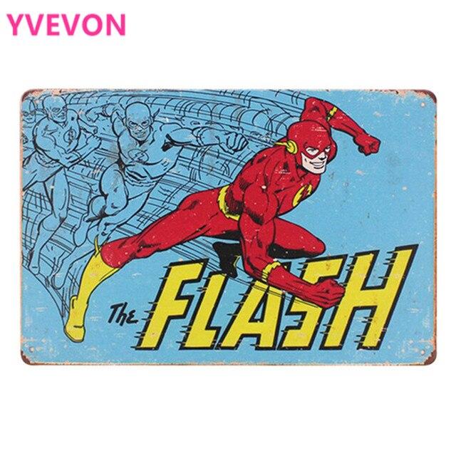 Flash Retro Metal Film Plaque Funny Tin Movie Sign Vintage Cartoon Board Animation Cinema Film Poster