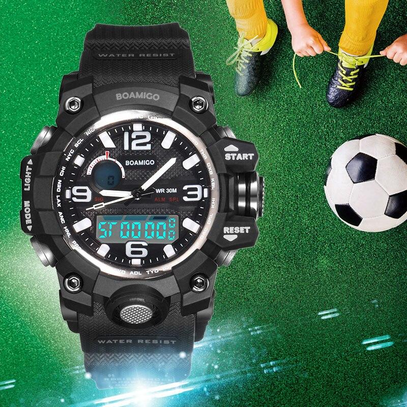 1d81b7ed6bd BOAMIGO Crianças Marca Esportiva Relógios menina menino adolescente crianças  quarz Relógio de choque Criança Moda Digital