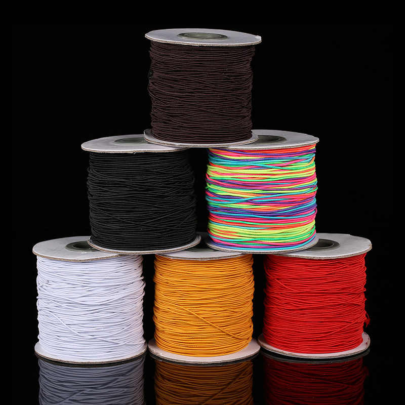 10m/bag 1mm Round Elastic Cord Beading Stretch Thread/String/Rope for Necklace Bracelet Jewelry Making Supply Z649