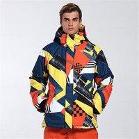 GSOU снег Для мужчин лыжная куртка ветрозащитная Лыжная куртка корейский стиль дышащий, чтобы Утепленная одежда плиты двойной много Цвет Лыж