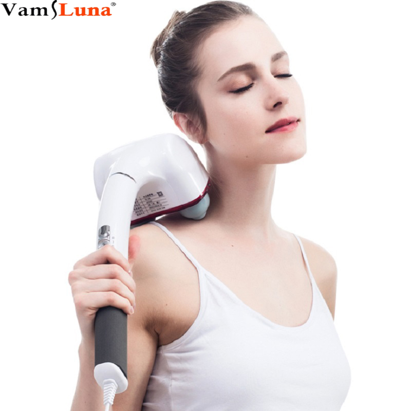 Dual-Node Percussion Double Head Electric Action Handheld Massager For Deep Tissue Muscle Kneading Glow Healthy Vitality