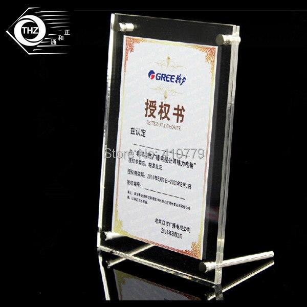 (20 Teile/los) Acryl Bilderrahmen A4/12 Zoll 329x240mm Europäischen Kreative Klar Kristall Bild Rahmen Display Racks Benutzerdefinierte Jeder Größe
