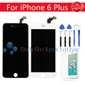 "AAA Quality 5.5"" Black/White+Tools+Tempered Glass For iPhone 6 Plus LCD Display Screen Touch Digitizer Assembly Replacement"