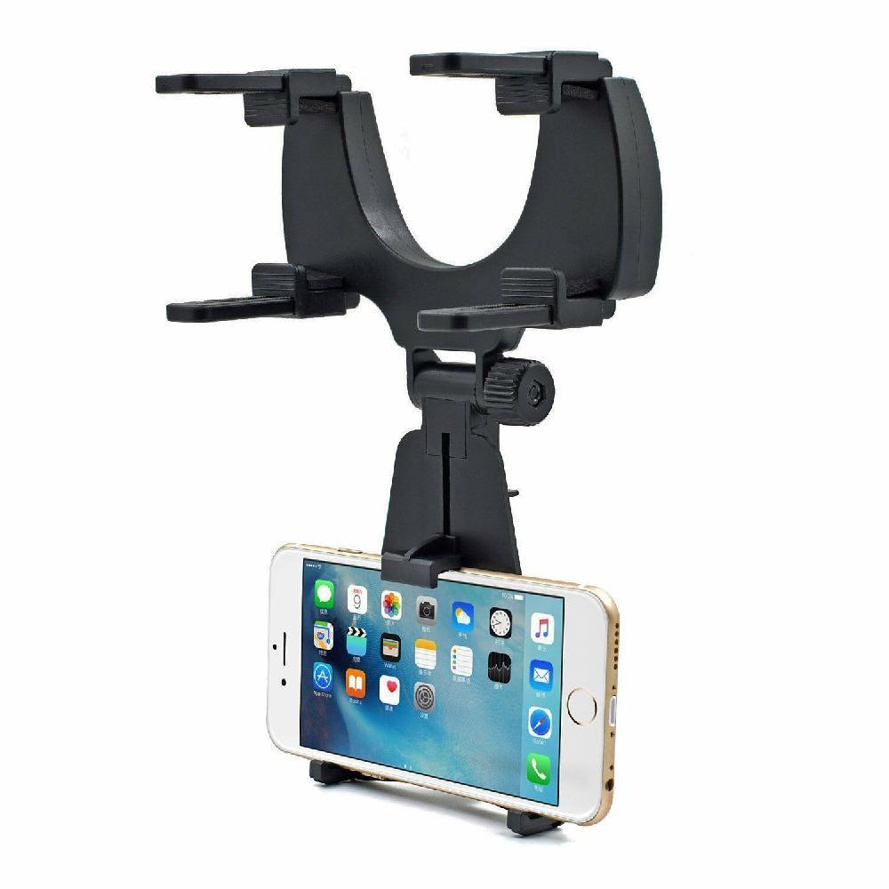 Купить с кэшбэком Universal Car Rear-view Mirror Mount Stand Holder Cradle for Cell Phone Car Interior Bracket Accessories