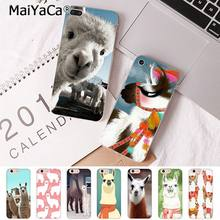 MaiYaCa For iPhone XS MAX 7 8 Plus Lama Llama Alpacas Animal Coque Phone Case for Apple iPhone 8 7 6 6S Plus X 5S SE XR Cover(China)