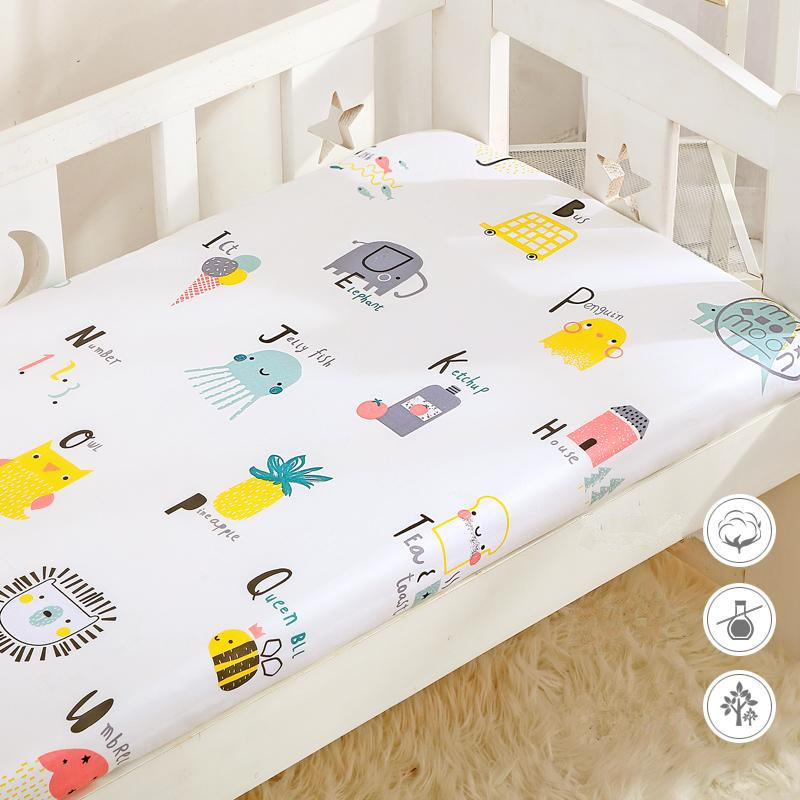New Coming Colors Crib Fitted Sheet Soft Cotton Baby Bed Mattress Cover For Boys Girls Cot Newborn Baby Breathable Bed Sheet