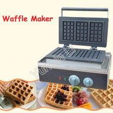 Commercial Square Shape Waffle Maker Electric Waffle Baking Machine Plaid Cake Furnace Machine Heating Machine FY