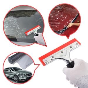 Image 2 - FOSHIO araba pencere tonu silecek kauçuk silecek kolu ile vinil araç örtüsü aracı cam su silecek temizleme aracı kar buz kazıyıcı