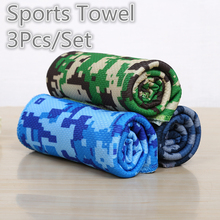 ФОТО 3pcs/set sports towel microfiber facecloth washcloth quick drying towel outdoor sports travel camping swimming towel 30x90cm