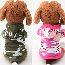 NEW 2017 High Quality Small Pet Camouflage Hoodie Winter Warm Sweatshirt T-shirt Cotton Adidog Blend Clothes Dog Clothes Hoodies