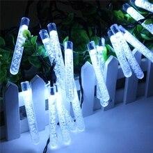 все цены на 20 LED 3.2m Solar Ice Piton Fairy String Light Lamp Wedding Xmas Party Decor Outdoor онлайн