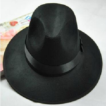 Maz Accessories Negro 100/% Fieltro de Lana Hecho a Mano Sombrero de Copa con Forro de Raso Lazo Banda y Plumas