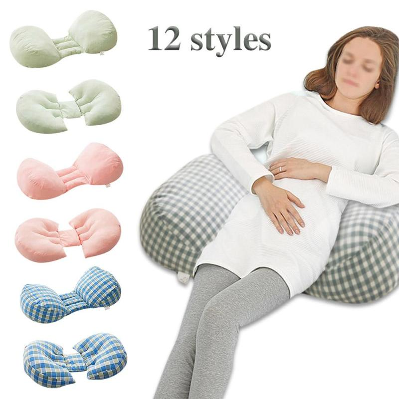 Baby sleep positioner anti roll cushion Maternity Body Pillow Waist support Cushion sleeping pillow for Pregnant Women Pillow R4 hot sale maternity body pillow soft pregnant women sleeping belly back support comfy baby nursing breastfeeding pillow