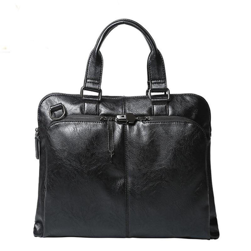 Hot 2017 High Qualiry Handbag Business Men Messenger Bags Fashion Leather Bags Briefcase Tote Handtasche Tassen