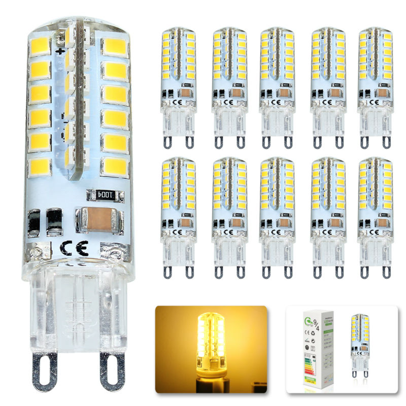 10x LED Bulb SMD 2835 G9 7W 48 leds Corn Light 220V 360 Degree Replace Halogen Lamp 48LED AC 200-240V