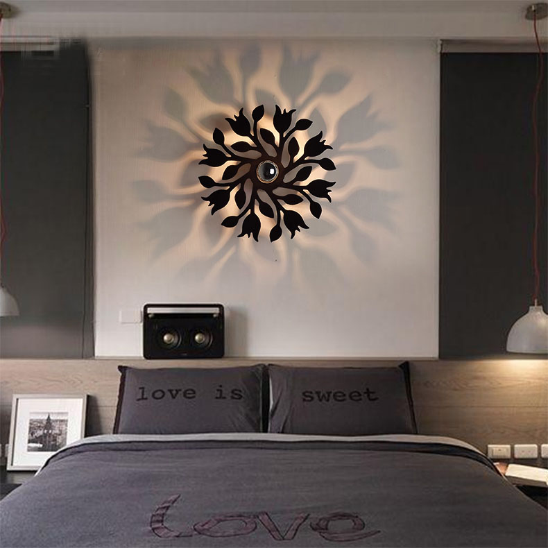 Modern simple wall lighting creative personality led wall - Modern wall decor for living room ...