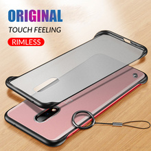 Frameless Transparent Matte Hard Cover Phone Case For One Plus 7 7Pro With Finger Ring Cases