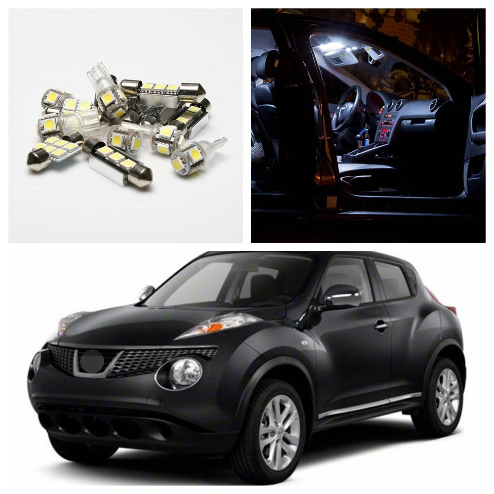 Tcart 4pcs Free Shipping Auto LED Bulbs Car Interior Lights Kit Error Free Dome Lamps For Nissan Juke 2011-2015 Car Accessories tcart 7pcs free shipping error free auto