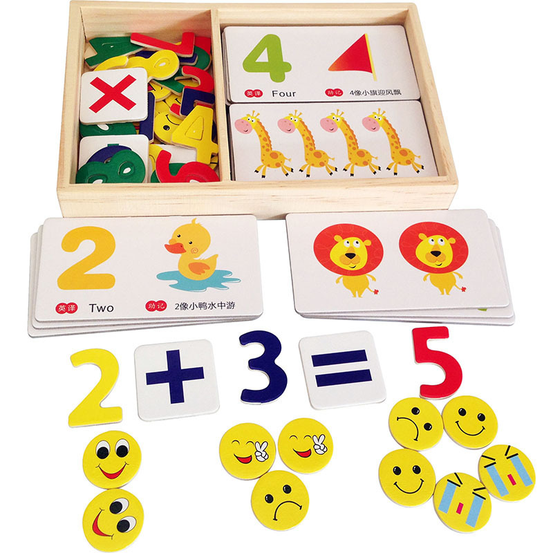 Baby Toys Montessori Digital Learning Box Math Toy Early Development Wooden Toys Educational Teaching Set Child Gift