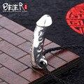 Livre dar corda preta beier 925 prata pingente de colar de pingente de retro homem genitais dominador jóias a0323