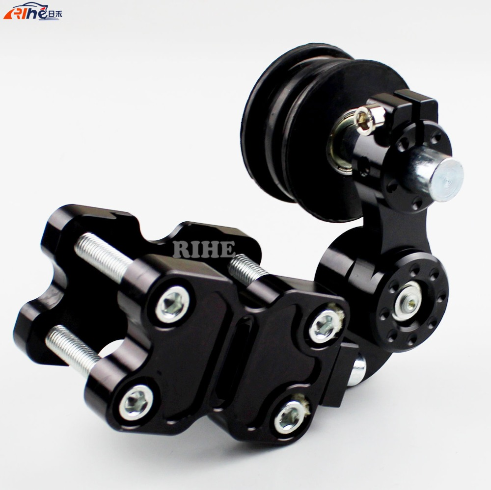 Universal Motorcycle CNC Rubber Chain Tensioner Motorbike ATV Chopper Bike For HONDA CBF1000 CB1300 CBR600F CBR250 600 900 1000 citall adjustable aluminum chain tensioner bolt on roller motocross for motorcycle dirt street bike atvs banshee chopper