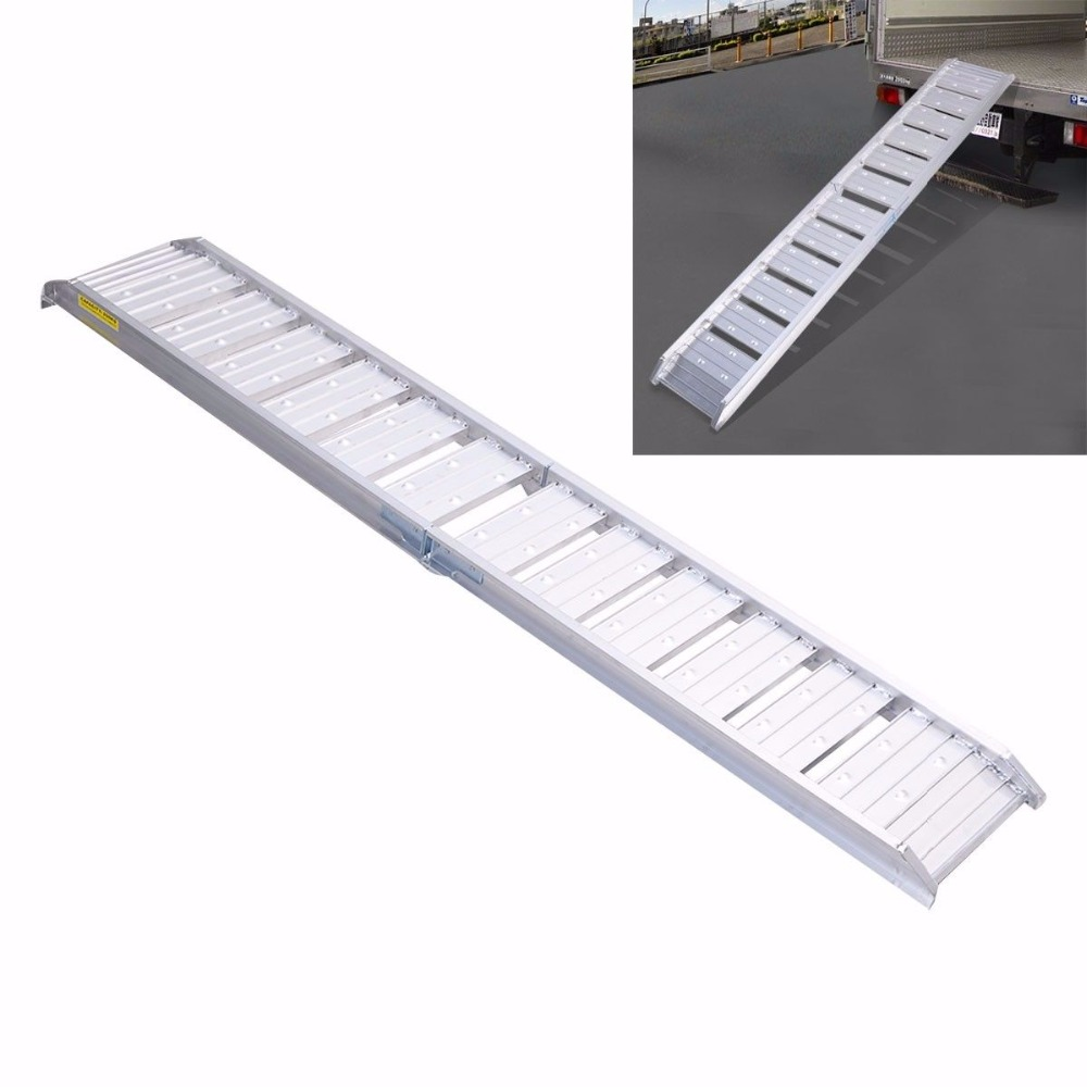 Dirt Bike Ramp >> 6ft Motorcycle Loading Truck Ramp Aluminum Dirt Bike Foldable Heavy