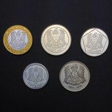 Síria 5 peças/set unc moeda original não circulou