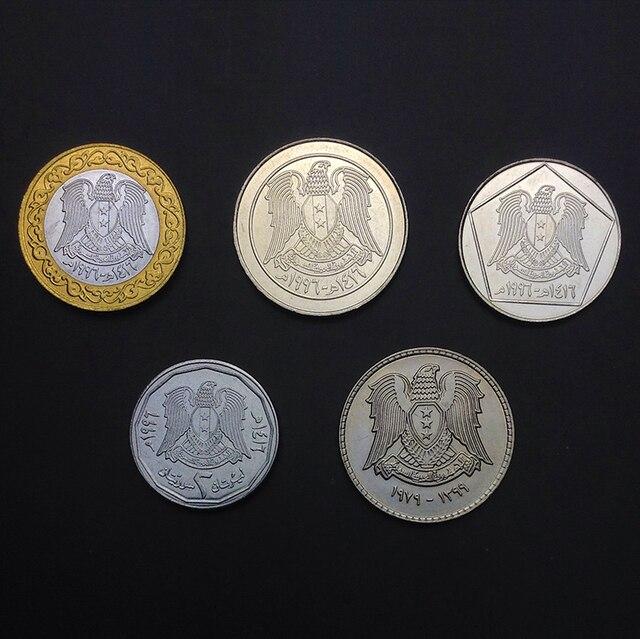 Syrien 5 teile/los UNC original Münze Nicht umgewälzt