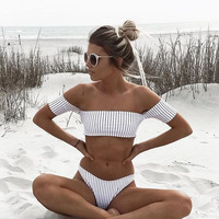 Off Shoulder Bikini Women S Beach 2017 Brazilian May Bikinis Set Secret Sex Bath Top New
