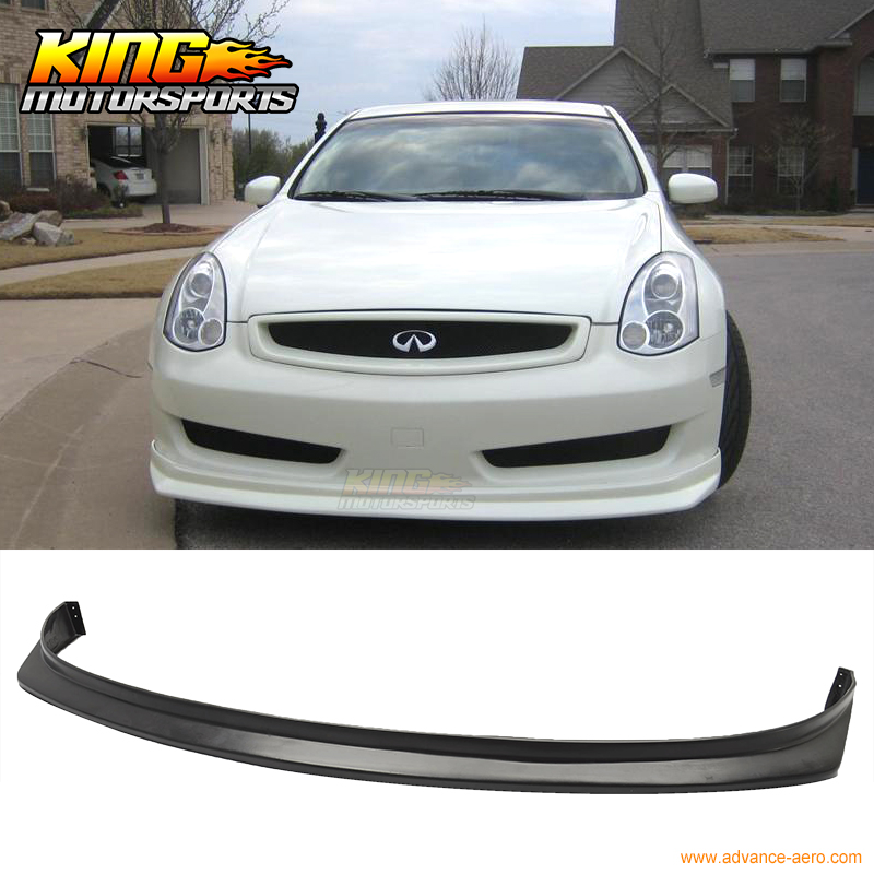 fit for 06 07 infiniti g35 coupe sports bumper front lip. Black Bedroom Furniture Sets. Home Design Ideas