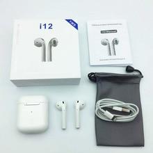 Мини i12 TWS Bluetooth беспроводные наушники истинные Беспроводные bluetooth 5,0 гарнитура сенсорные наушники бинауральный вызов для iphone7, 8 HUAWEI