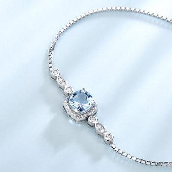 Bracelet Aigue Marine Et Argent