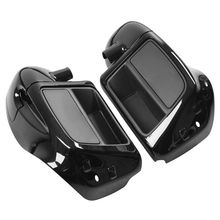 Lower Vented Leg Fairing Glove Box For Harley Touring Models Road King Street Electra Glide Ultra FLTR FLHX FLHT FLHR 2014-2017 1pair motorcycle led light front lower fork leg covers case led warning light for harley accessories flhr flhx flht 2014 up