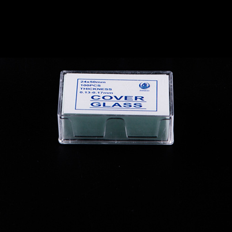 Free Shipping 100PCS 24x50 mm Microscope Glass Slides Cover Slips Blank Slides Microscope Accessories 0 13 0 17 mm Thickness in Microscopes from Tools