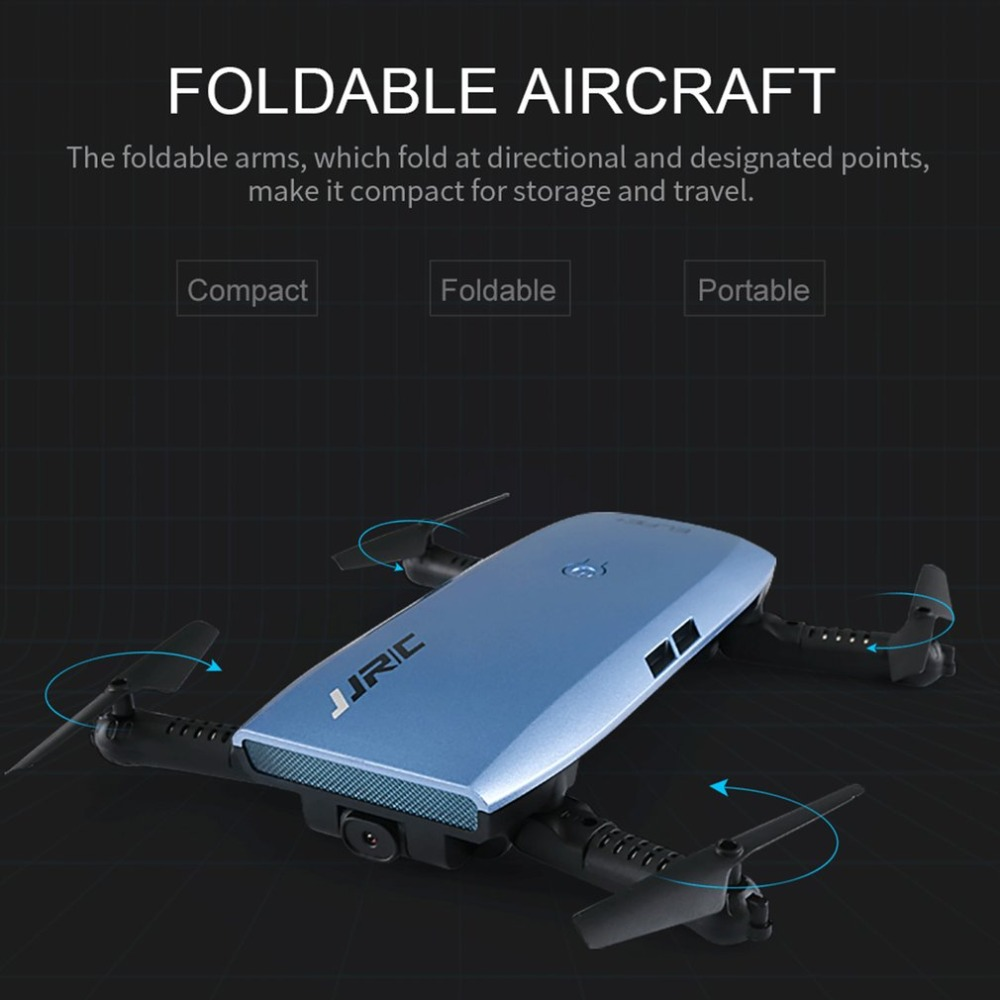 JJR/C H47 ELFIE WIFI FPV Drone With 720P HD Camera Altitude Hold Mode Foldable G-sensor Mini RC Selfie Quadcopter With battery jjrc h47 rc drone with camera 720p g sensor wifi function foldable arm quadcopter headless mode altitude hold selfie drone hot