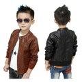 2016 новое 3 - 13 т мальчики пальто из искусственного кожаные куртки мода дети осень и весна кожаные пиджаки куртки для мальчиков, C027