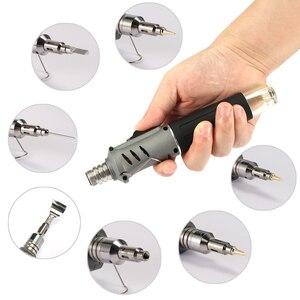 Image 4 - Soldador de Gas profesional 10 en 1 de hierro de soldadura de butano, Kit de antorcha de Encendido automático, llama ajustable, herramientas de mano para el hogar