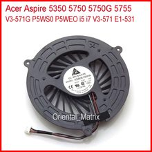 New ksb06105ha-aj83 cho acer aspire 5350 5750 5750g 5755 v3-571g p5ws0 p5weo i5 i7 v3-571 e1-531 laptop cpu cooling fan(China)